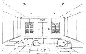 Design Skizze Heimkino
