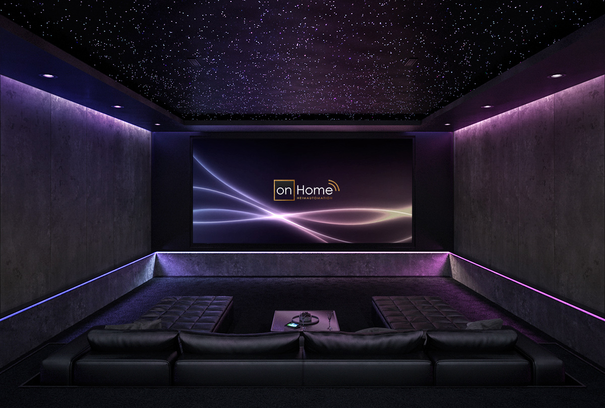 heimkino design mit hollywood technik home cinema von on. Black Bedroom Furniture Sets. Home Design Ideas